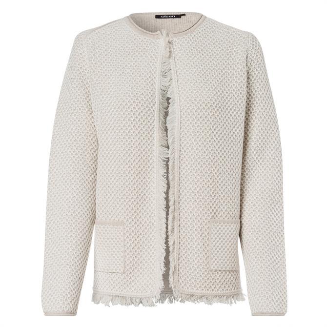 Olsen Fringe Trim Textured Jacket