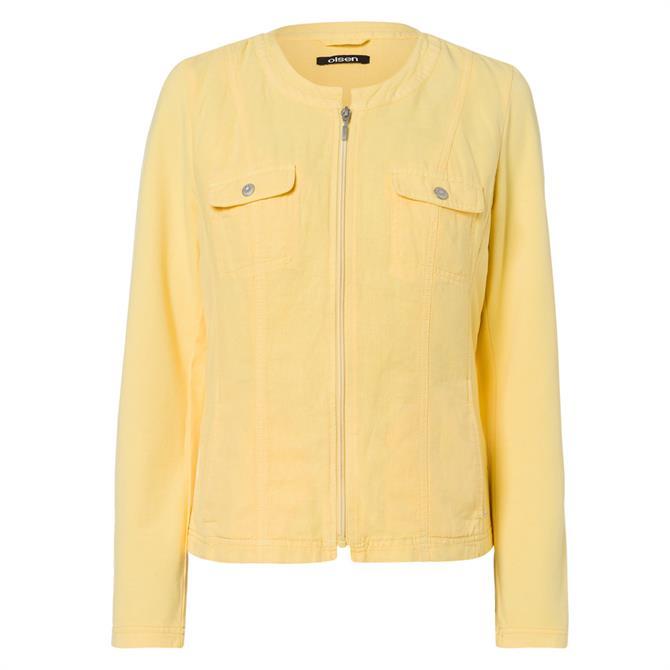 Olsen Front Pocket Zipped Jacket