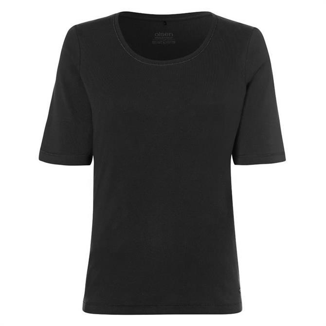 Olsen Cotton Round Neck T-Shirt