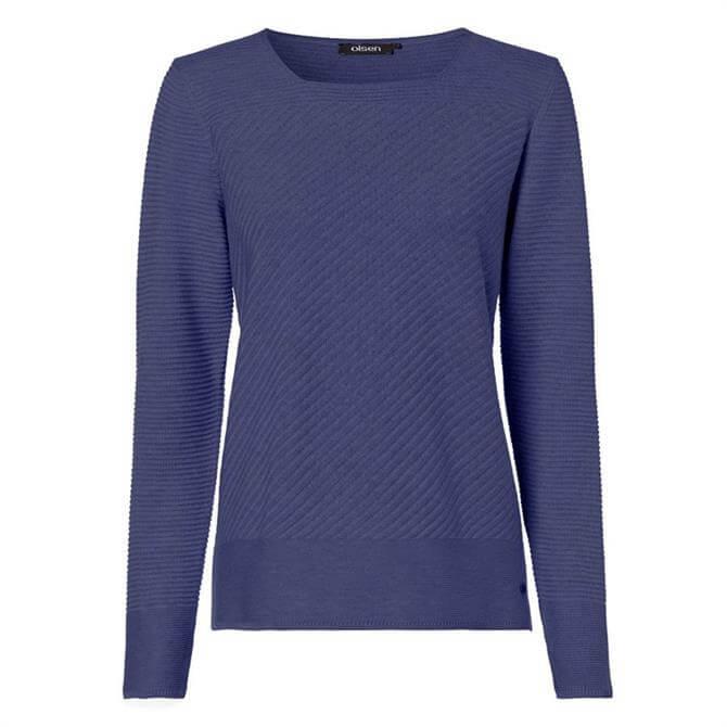 Olsen Square Neck Pullover Sweater