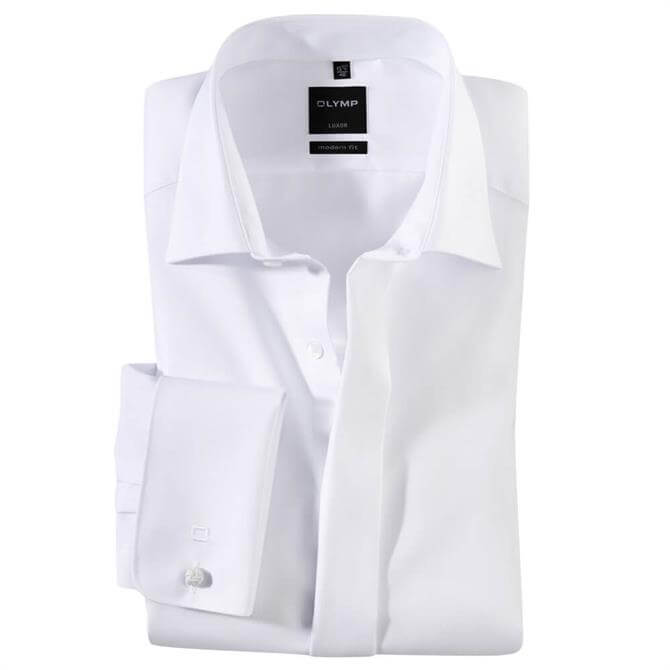 OLYMP Luxor New Kent White Dress Shirt