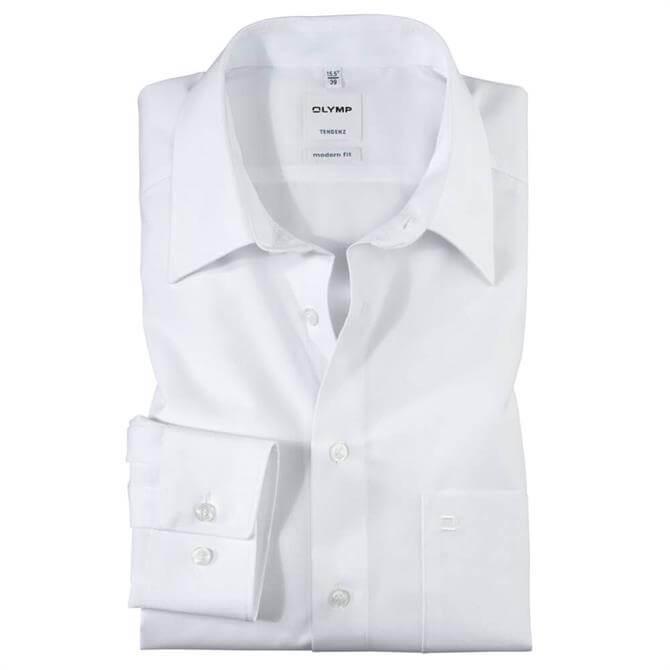 OLYMP Tendenz Kent Shirt - White