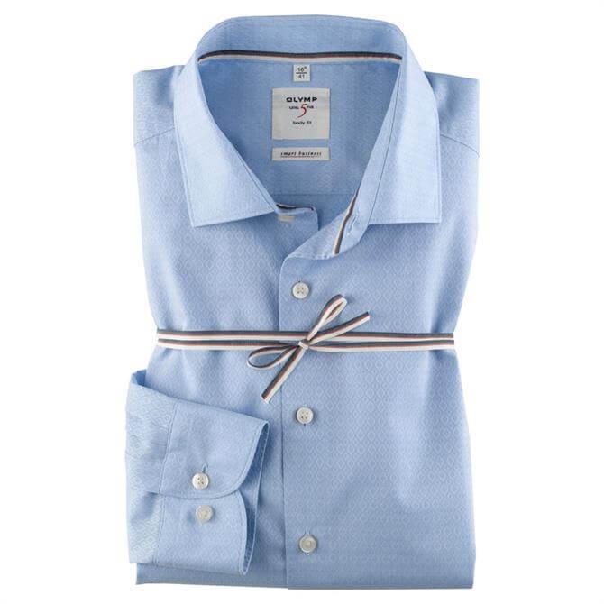 OLYMP Level Five Smart Business Kent Shirt - Blue