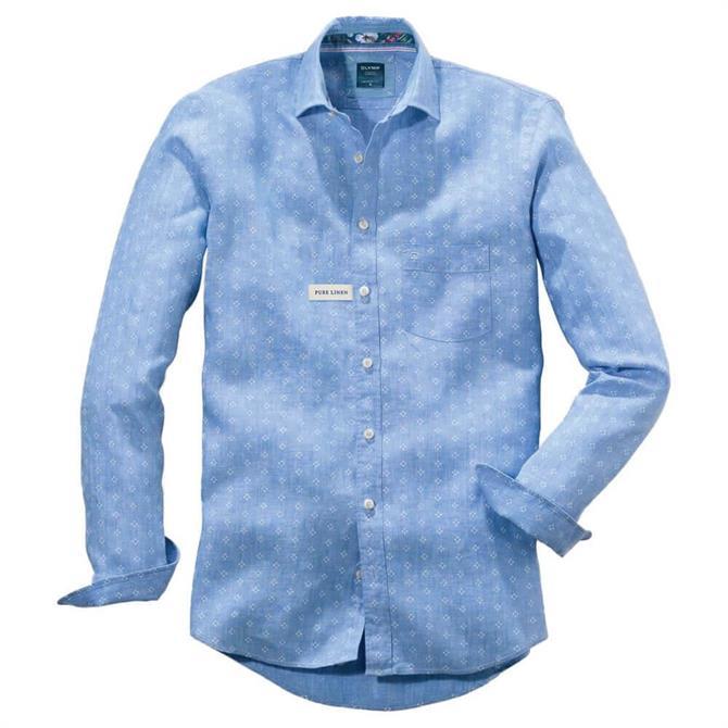 OLYMP Casual Modern Fit Kent Geo Floral Print Shirt