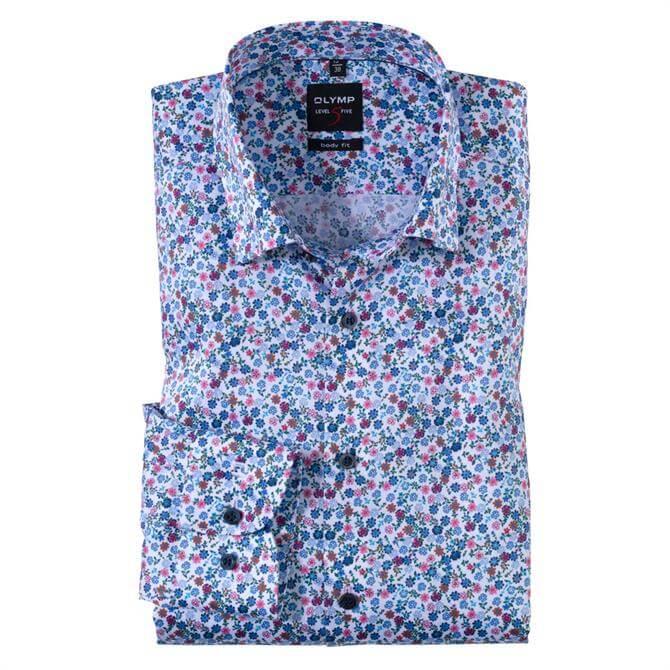 OLYMP Level Five Mini Floral Print Shirt