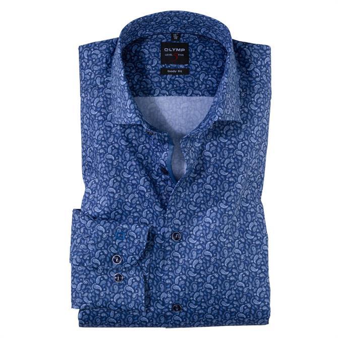 OLYMP Level Five Paisley Print Slim Fit Shirt