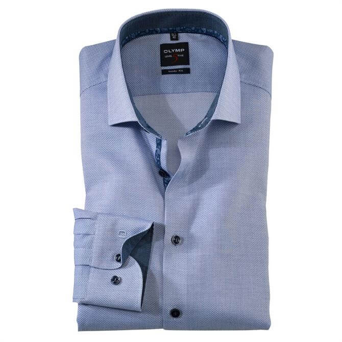 OLYMP Level Five Slim Fit Long Sleeved Cotton Shirt