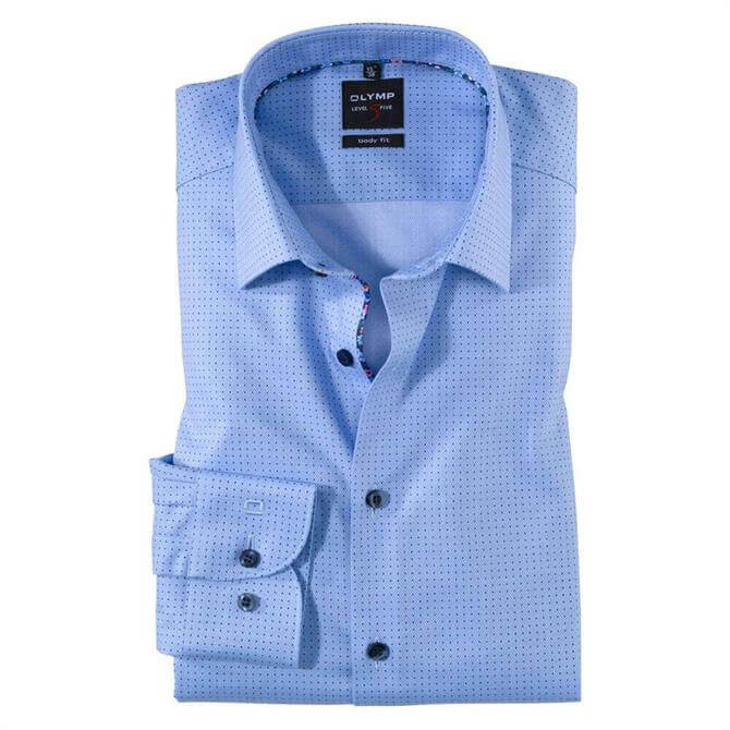 OLYMP Level Five Small Dot Business Shirt