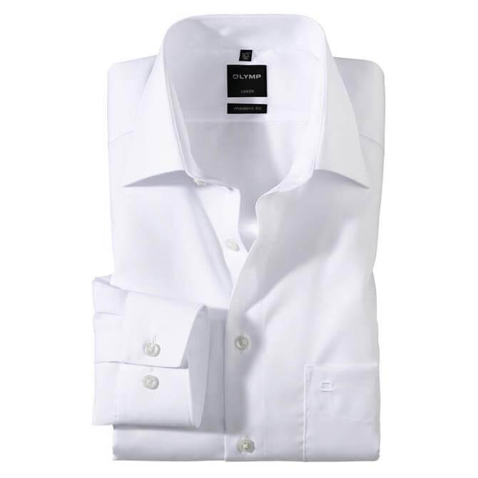 OLYMP Luxor Modern Long Sleeved White Shirt