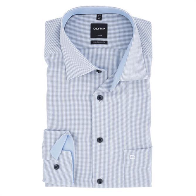 OLYMP Luxor Modern Fine Houndstooth Long Sleeved Shirt