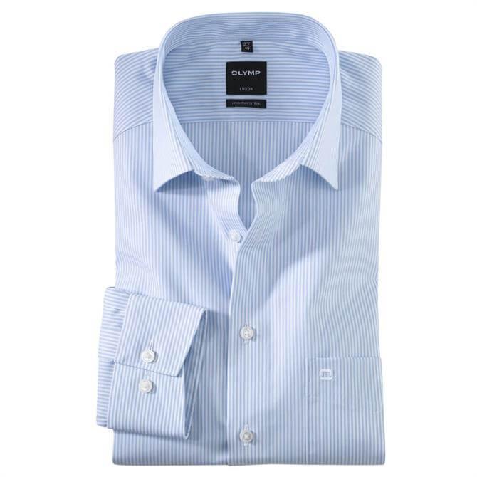 OLYMP Luxor Modern Striped Long Sleeved Shirt