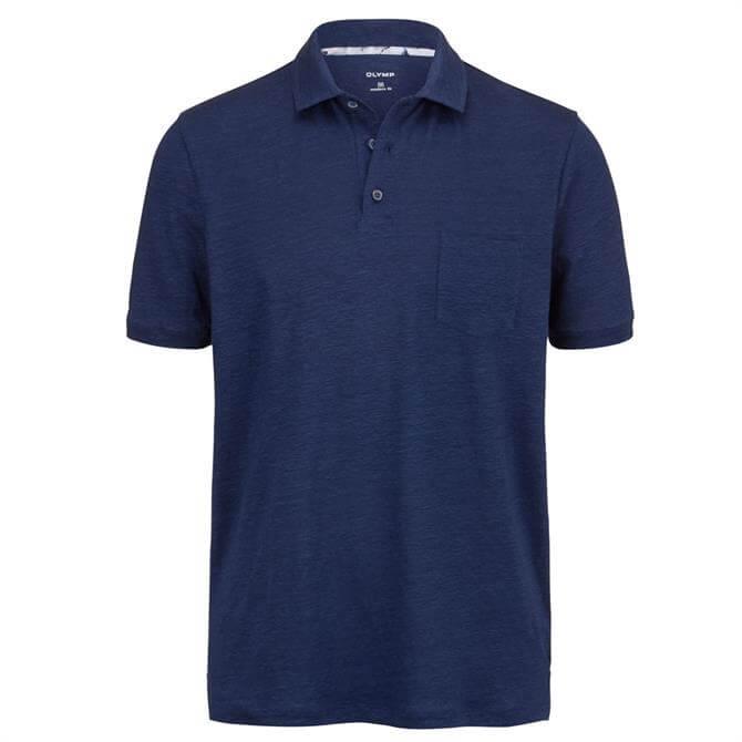 OLYMP Modern Linen Blend Polo Shirt