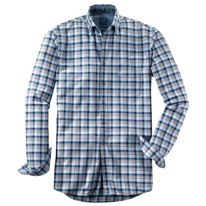 OLYMP Casual Shirt - Button-Down – Brown