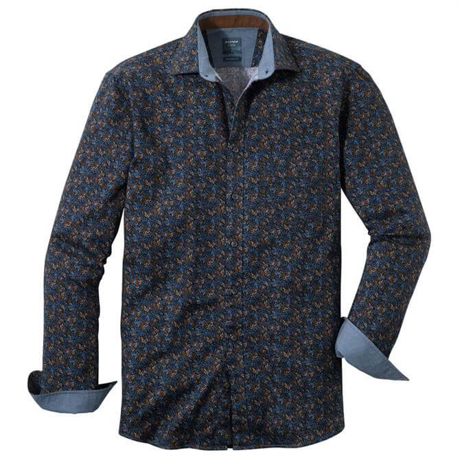 OLYMP Casual Shirt - Kent - Brown