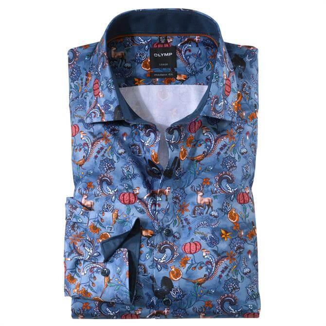 OLYMP Luxor Business Shirt - Smoke Blue