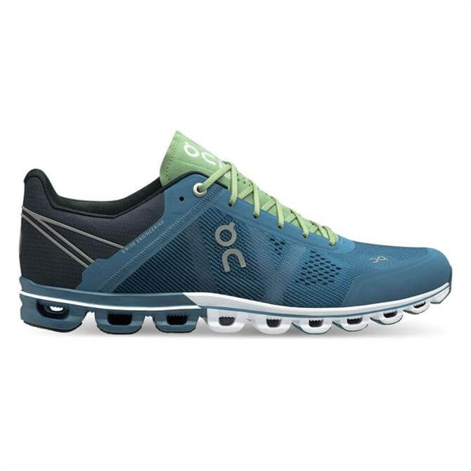 On Men's Cloudflow Running Shoe - Lake/Fern