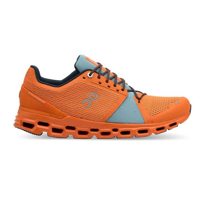 On Men's Cloudstratus Running Shoe - Orange/Wash