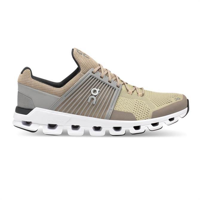 On Men's Cloudswift Running Shoe - Sand/Grey