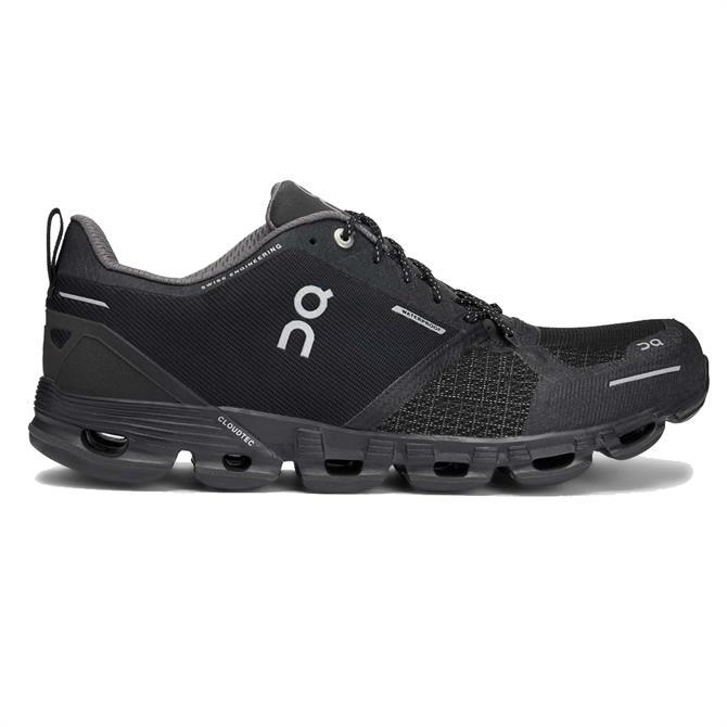 On Women's Cloudflyer Waterproof Running Shoe - Black/Lunar