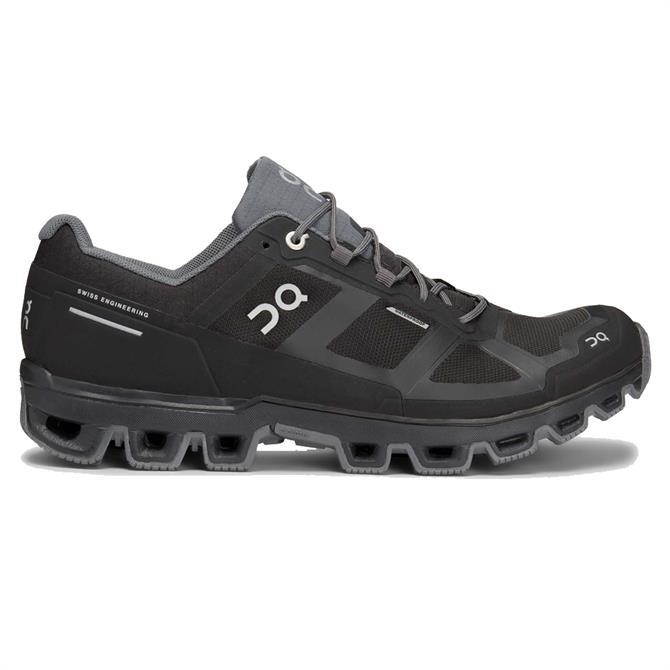 On Men's Cloudventure Waterproof Running Shoe - Black / Grey