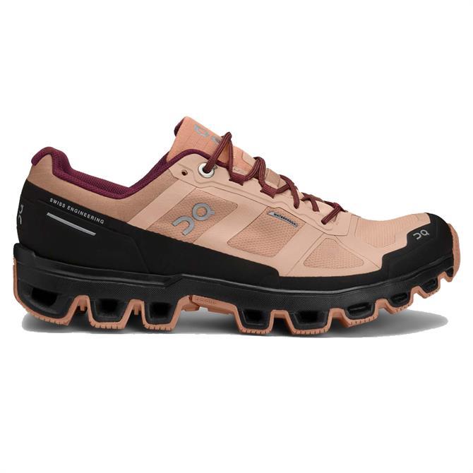 On Women's Cloudventure Waterproof Running Shoe - Pink