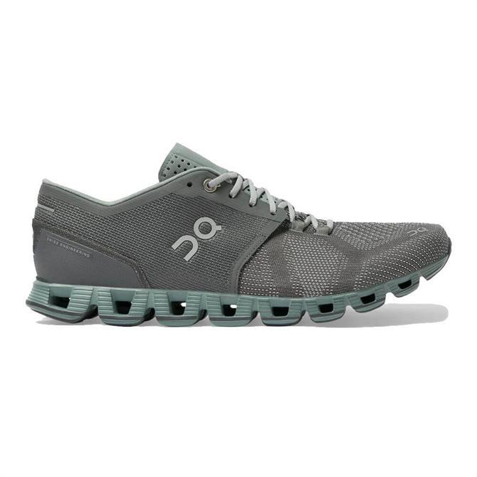 On Men's Cloud X Running Shoe - Rock/Sea