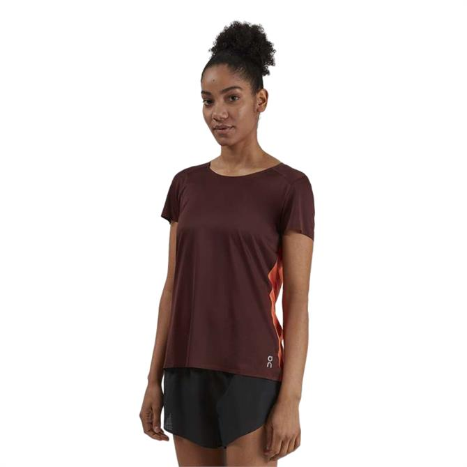 On Women's Performance-T – Mulberry/Spice