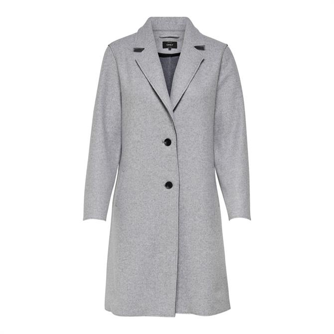 Only Carrie Straight Fit Buttoned Coat