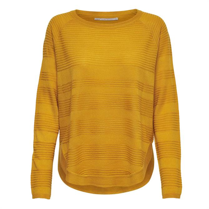 Only Caviar Striped Textured Knit Sweater