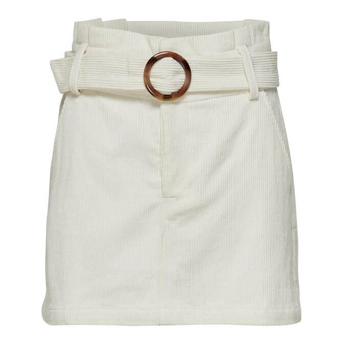 Only Cora Buckle Belt Corduroy Skirt