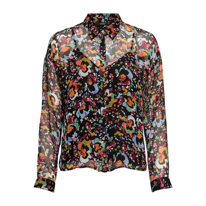 Only Eveline Abstract Floral Print Shirt