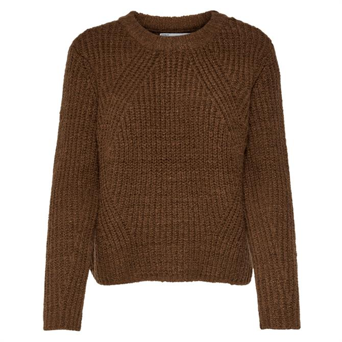 Only Fiona Cropped Textured Knit Jumper