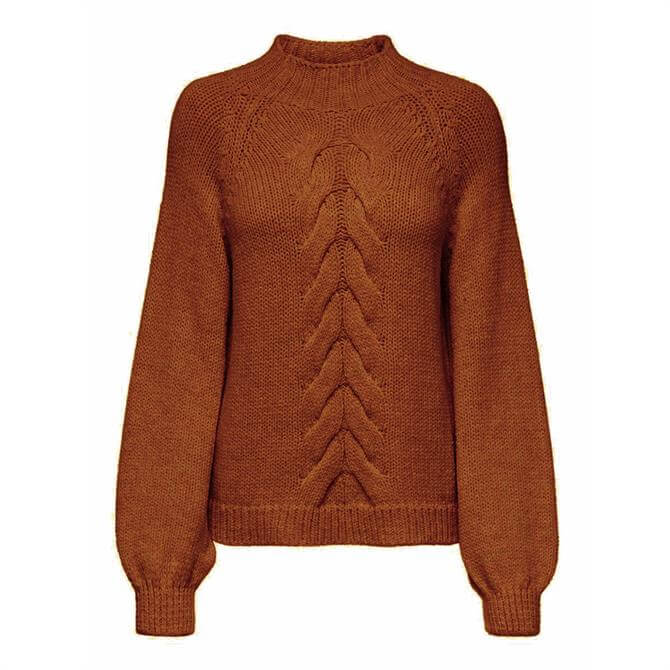 Only Freyah Cable Knit High Neck Jumper