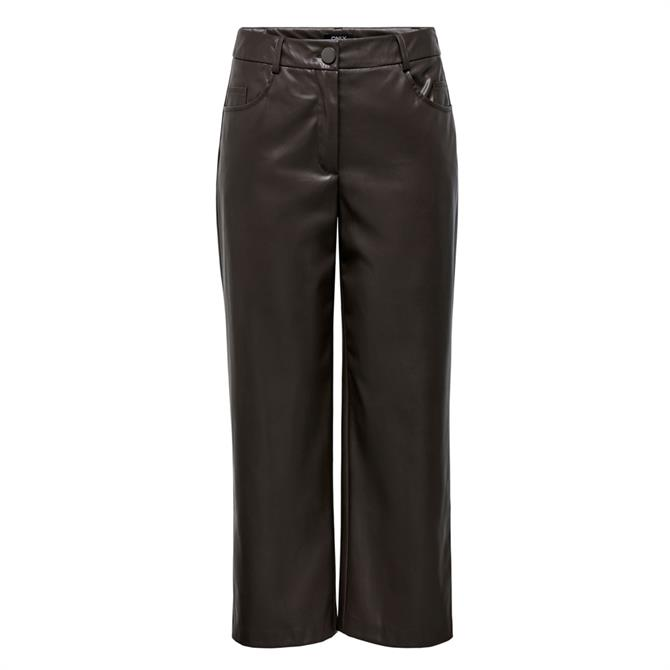 Only Gloria Faux Leather Ankle Trousers
