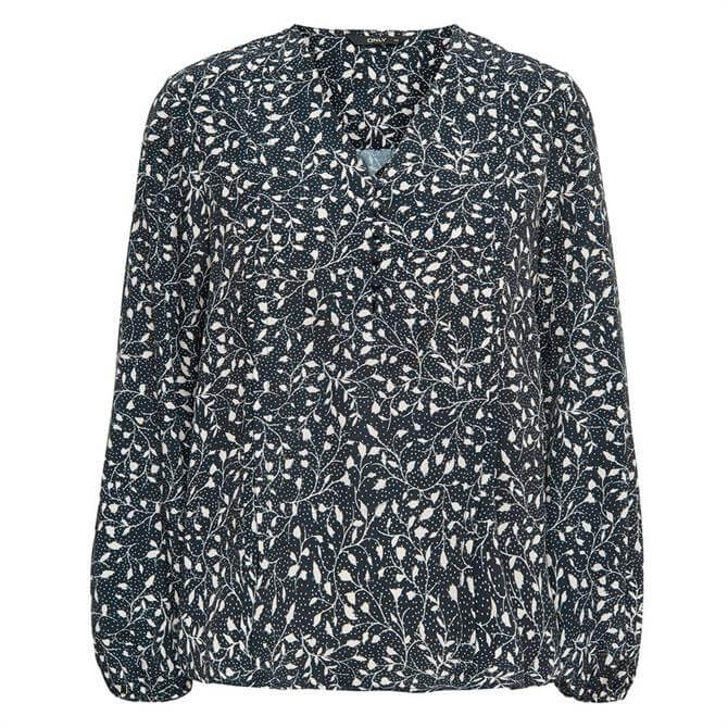 Only Molly Mono Floral Print Blouse