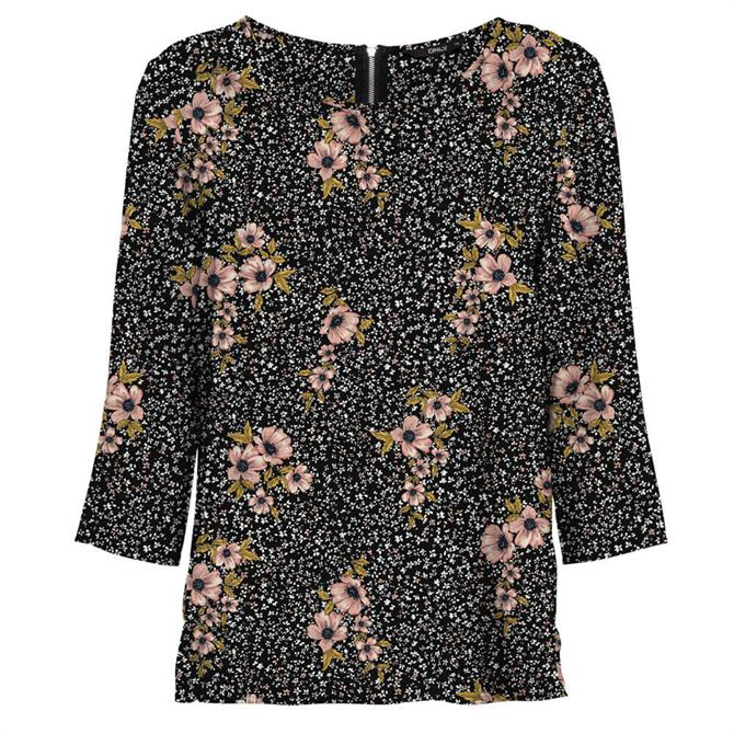 Only Nova Life Floral Bouquet 3/4 Sleeve Top