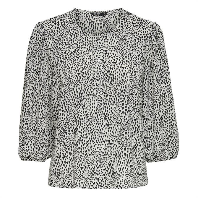 Only Nova Lux Patterned Puff Sleeve Top