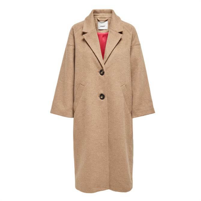 Only Val Crop Sleeve Long Wool Coat