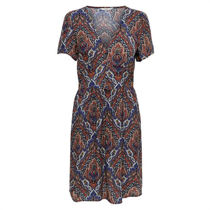 Only Vide Paisley Print Short Sleeved Dress
