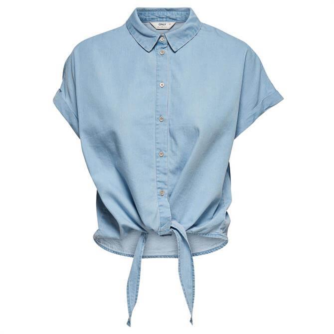 Only Milen Tie Knot Denim Shirt