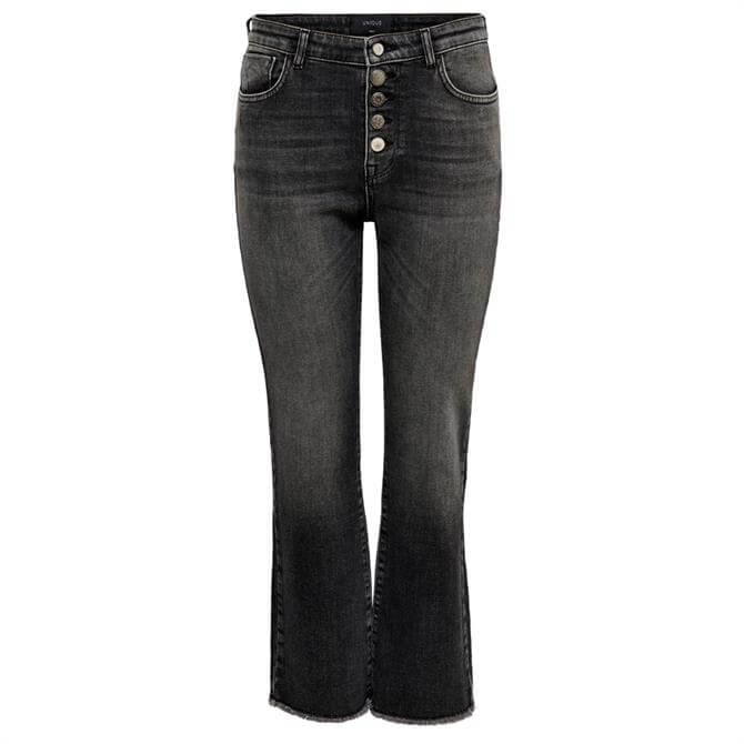 Only Button Front Kick Flare Jeans