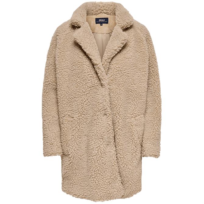 Only Aurelia Sherpa Teddy Bear Faux Fur Coat