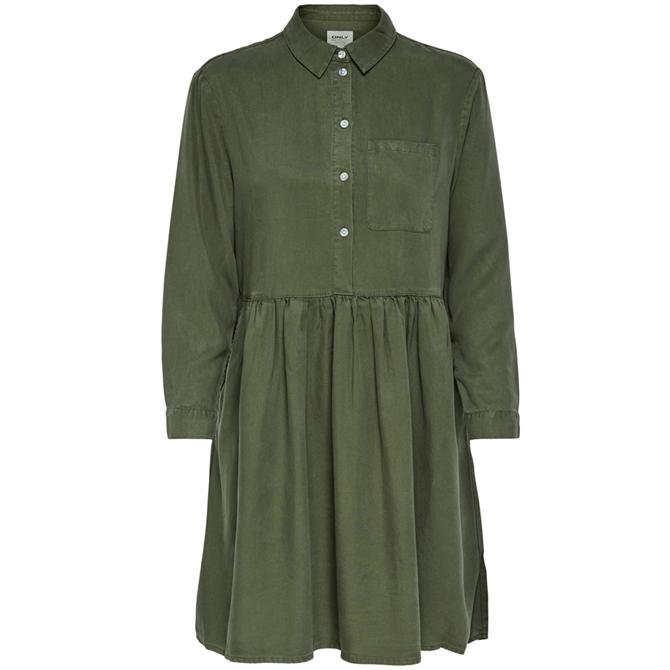 Only Katelin Button Front Shirt Dress