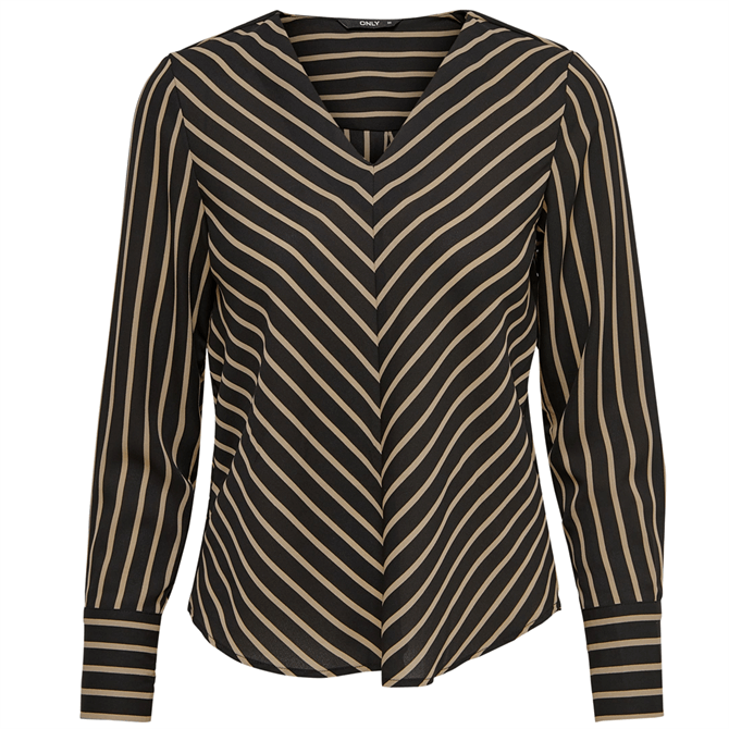 Only Striped Long Sleeve Blouse