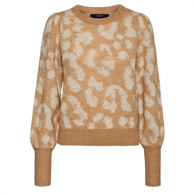 Vero Moda Tari Tan Leopard Sweater