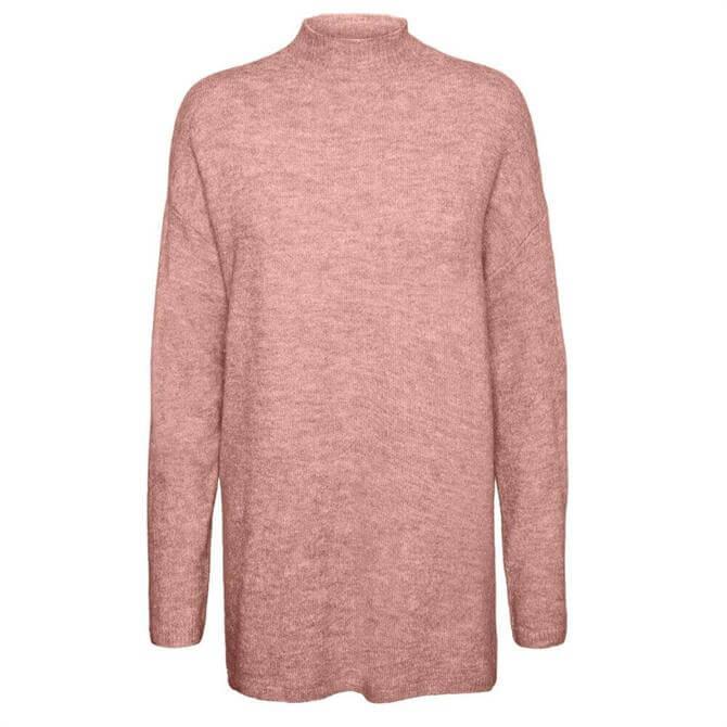 Vero Moda Plaza High Neck Longline Sweater
