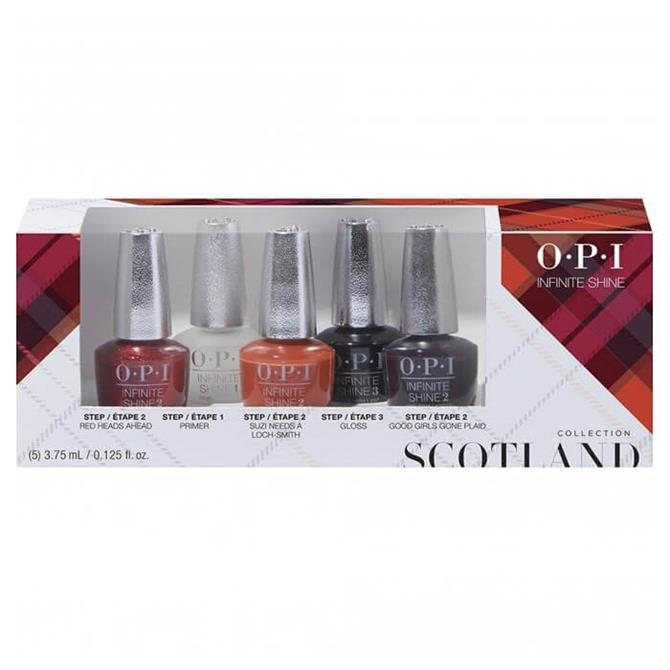 OPI Infinite Shine x5 Mini Pack Nail Polish- Scotland Collection