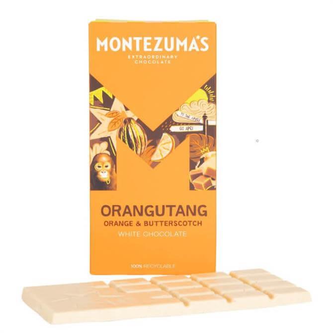 Montezuma's Orangutang Orange & Butterscotch White Chocolate 90G