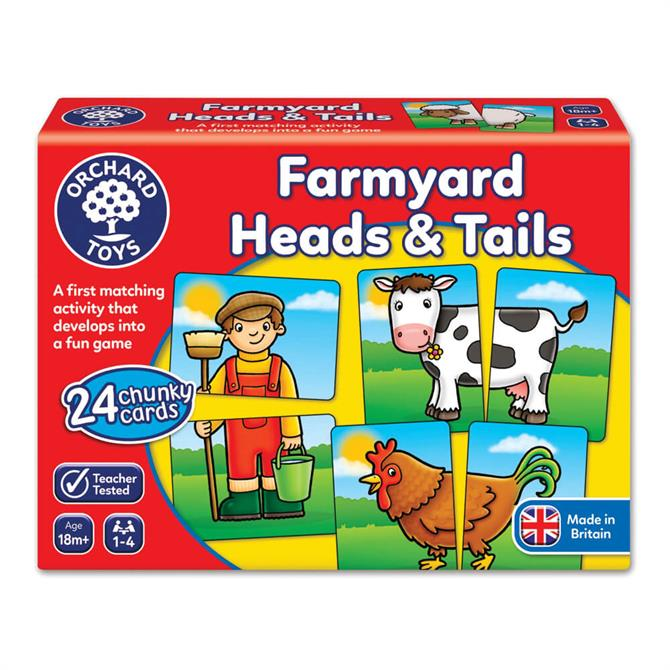 Orchard Toys Farmyard Head & Tails Game