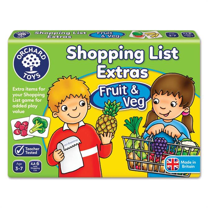 Orchard Toys Shopping List Extras Fruit and Veg Booster Pack